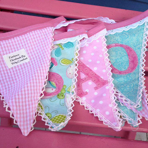 bunting with kids name